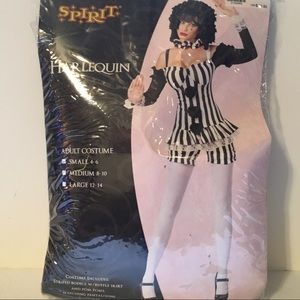 Sexy Harlequin (clown/Jester) Small 4-6 Costume